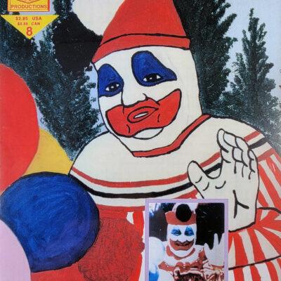 Psycho Killer 8 Comic – John Wayne Gacy / Pogo the Clown cover